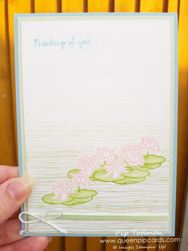 Masking Technique with Lilypad Lake is so easy, but beautiful and soft. Great for a sympathy card or to let someone know they're in your thoughts. All products available from my online store here: http://bit.ly/QPCShop Pip Todman Crafty Coach & Stampin' Up! Top UK Demonstrator Queen Pip Cards www.queenpipcards.com Facebook: fb.me/QueenPipCards #queenpipcards #inspiringyourcreativity #stampinup #papercraft