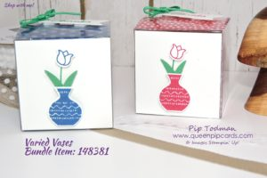 Teachers Gifts with Varied Vases! So cute but so easy to make. Quick, easy but stylish gifts no teacher could resist. All products available from my online store here: http://bit.ly/QPCShop Pip Todman Crafty Coach & Stampin' Up! Top UK Demonstrator Queen Pip Cards www.queenpipcards.com Facebook: fb.me/QueenPipCards #queenpipcards #inspiringyourcreativity #stampinup #papercraft