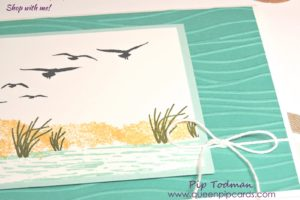 Love The Seaside Embossing Folder from Stampin' Up! It gives such a seaside feeling to any card! All Stampin' Up! products available from my online store here: http://bit.ly/QPCShop Pip Todman Crafty Coach & Stampin' Up! Top UK Demonstrator Queen Pip Cards www.queenpipcards.com Facebook: fb.me/QueenPipCards #queenpipcards #simplystylish #inspiringyourcreativity #stampinup #papercraft