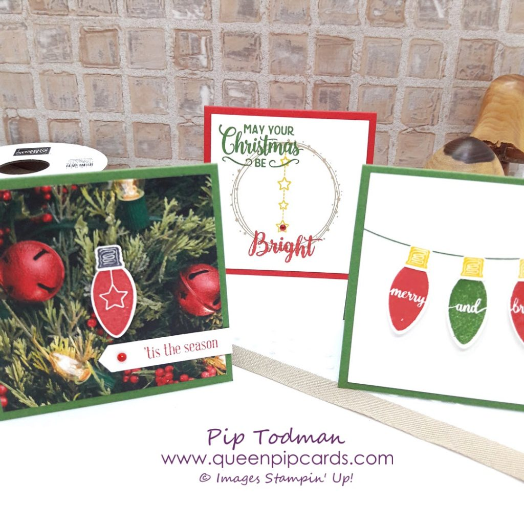 Making Christmas Bright Trio Of Card Ideas - Stampin\' Up! - Queen ...
