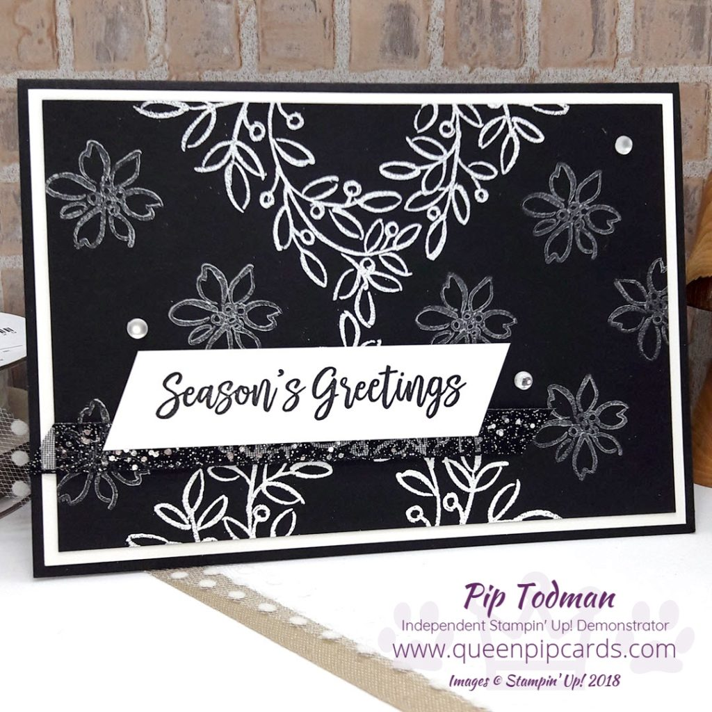 3 Cards With Feather And Frost! Yes today I'm sharing 3 cards all using the Feathers and Frost stampset from Stampin' Up! Elegance with Frost White Shimmer Paint and White Embossing for this card. All Stampin' Up! products are / will be available from my online store here: http://bit.ly/QPCShop Pip Todman Crafty Coach & Stampin' Up! Top UK Demonstrator Queen Pip Cards www.queenpipcards.com Facebook: fb.me/QueenPipCards #queenpipcards #simplystylish #inspiringyourcreativity #stampinup #papercraft