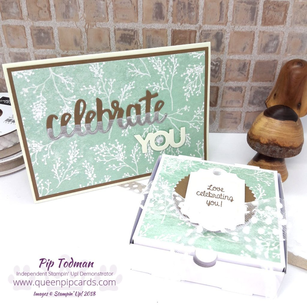 Celebrate You with my amazing team!! This week I'm sharing a card and box combo I created for my wonderful teamie who achieved both top sales and top recruiting this past year!! Well done Di Richardson! All Stampin' Up! products are / will be available from my online store here: http://bit.ly/QPCShop Pip Todman Crafty Coach & Stampin' Up! Top UK Demonstrator Queen Pip Cards www.queenpipcards.com Facebook: fb.me/QueenPipCards #queenpipcards #simplystylish #inspiringyourcreativity #stampinup #papercraft