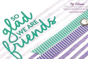 Quick and Easy Friends Card with Incredible Like You a new stamp set coming out in January. Today we're hopping around the world with the Greek Isles Achievers Blog Hop. Come along and join in the fun! See what we have in store for you and get a sneak peek from me of just one of the beautiful sets coming soon! All Stampin' Up! products are / will be available from my online store here: http://bit.ly/QPCShop Pip Todman Crafty Coach & Stampin' Up! Top UK Demonstrator Queen Pip Cards www.queenpipcards.com Facebook: fb.me/QueenPipCards #queenpipcards #simplystylish #inspiringyourcreativity #stampinup #papercraft