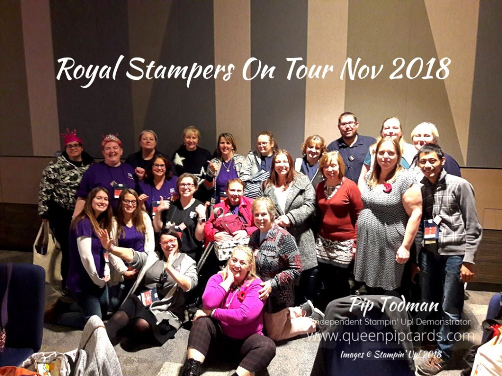 Royal Stampers On Tour At OnStage Nov 2018! Wonderful fun, friendship and craft products! All the best ingredients for a fabulous life! All Stampin' Up! products are / will be available from my online store here: http://bit.ly/QPCShop Pip Todman Crafty Coach & Stampin' Up! Top UK Demonstrator Queen Pip Cards www.queenpipcards.com Facebook: fb.me/QueenPipCards #queenpipcards #simplystylish #inspiringyourcreativity #stampinup #papercraft