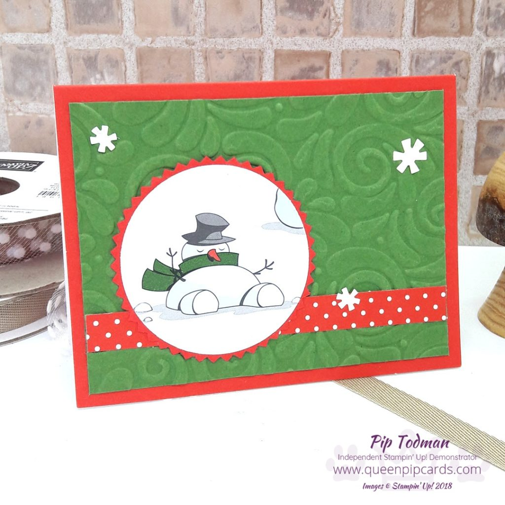 Who say's it's all about Santa? I couldn't resist this Snoozing Snowman from the Santa's Workshop Speciality Designer Series paper pack. He's so cute sleeping in the snow! All Stampin' Up! products are / will be available from my online store here: http://bit.ly/QPCShop Pip Todman Crafty Coach & Stampin' Up! Top UK Demonstrator Queen Pip Cards www.queenpipcards.com Facebook: fb.me/QueenPipCards #queenpipcards #simplystylish #inspiringyourcreativity #stampinup #papercraft