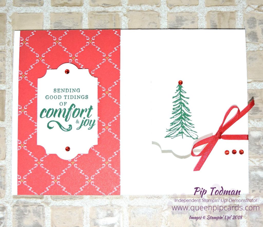 Simple Aperture Christmas Card is today's project and video too! How to make a simple aperture card when you don't have a Big Shot or die cutting machine! #simplestamping project! All Stampin' Up! products are / will be available from my online store here: http://bit.ly/QPCShop Pip Todman Crafty Coach & Stampin' Up! Top UK Demonstrator Queen Pip Cards www.queenpipcards.com Facebook: fb.me/QueenPipCards #queenpipcards #simplystylish #inspiringyourcreativity #stampinup #papercraft