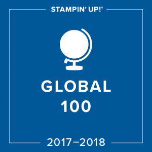 Thrilled to be in the top 100 globally for the year 2017-18 - Pip Todman Stampin' Up!