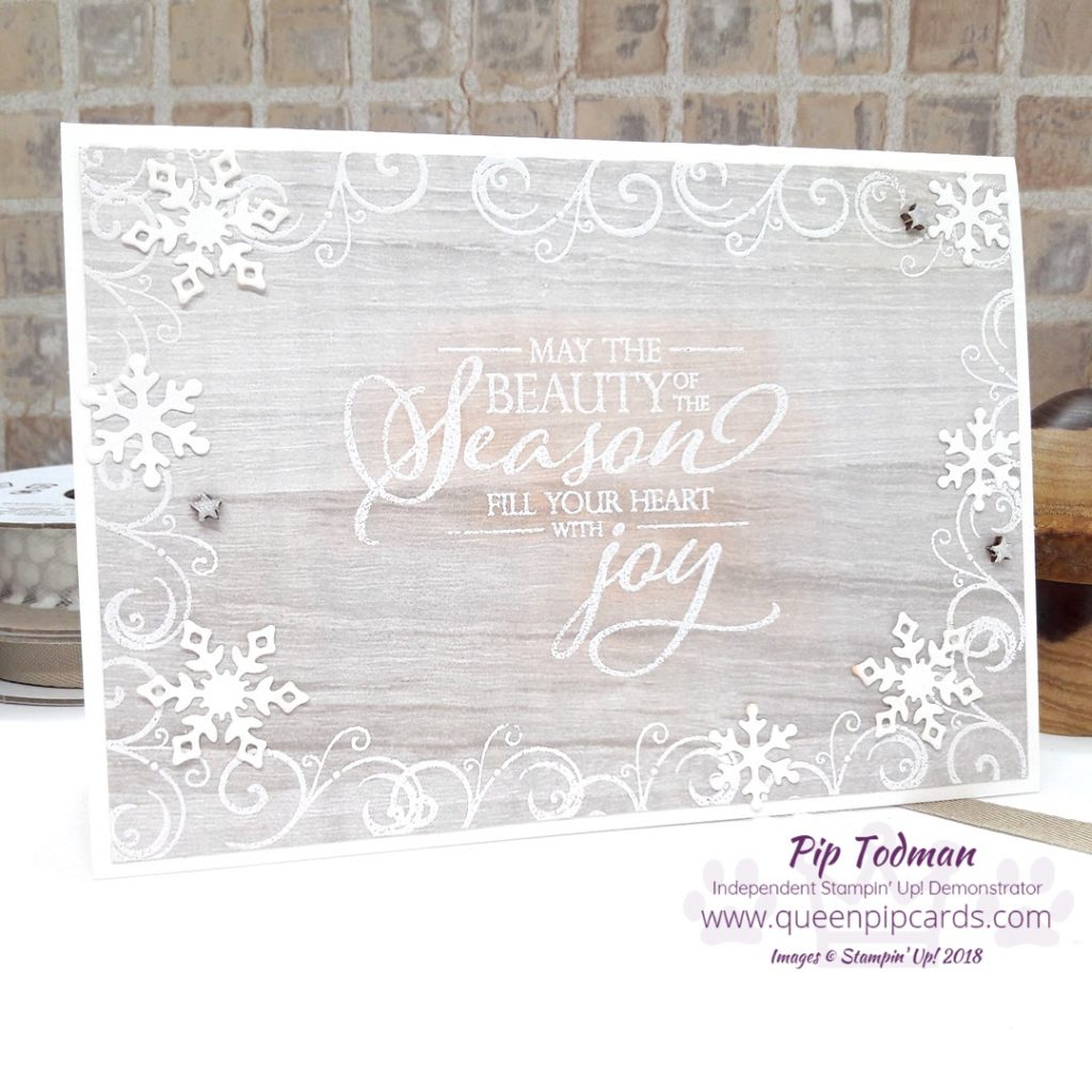 White Christmas Card Idea with the Stampin' Creative Blog Hop team! Yes today we are sharing our love of all things White and Christmas! This card embraces both using the wonderful Merry Christmas To All stamp set along with some sneaky Snowfall Thinlit die snowflakes! All Stampin' Up! products are / will be available from my online store here: http://bit.ly/QPCShop Pip Todman Crafty Coach & Stampin' Up! Top UK Demonstrator Queen Pip Cards www.queenpipcards.com Facebook: fb.me/QueenPipCards #queenpipcards #simplystylish #inspiringyourcreativity #stampinup #papercraft