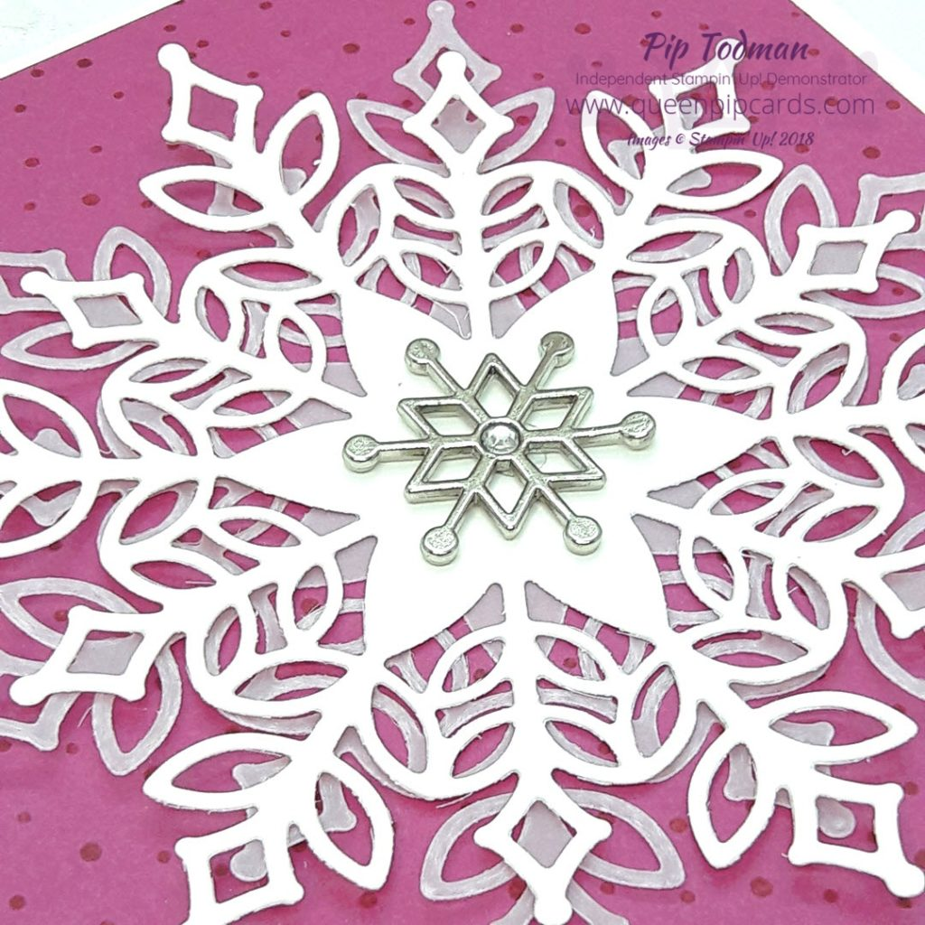 Woo hoo Snowfall Thinlits! Who says Christmas cards can't be pink & bright too?!? I LOVE the Snowfall Thinlits, they are so easy to work with and create stunning results. All Stampin' Up! products are / will be available from my online store here: http://bit.ly/QPCShop Pip Todman Crafty Coach & Stampin' Up! Top UK Demonstrator Queen Pip Cards www.queenpipcards.com Facebook: fb.me/QueenPipCards #queenpipcards #simplystylish #inspiringyourcreativity #stampinup #papercraft