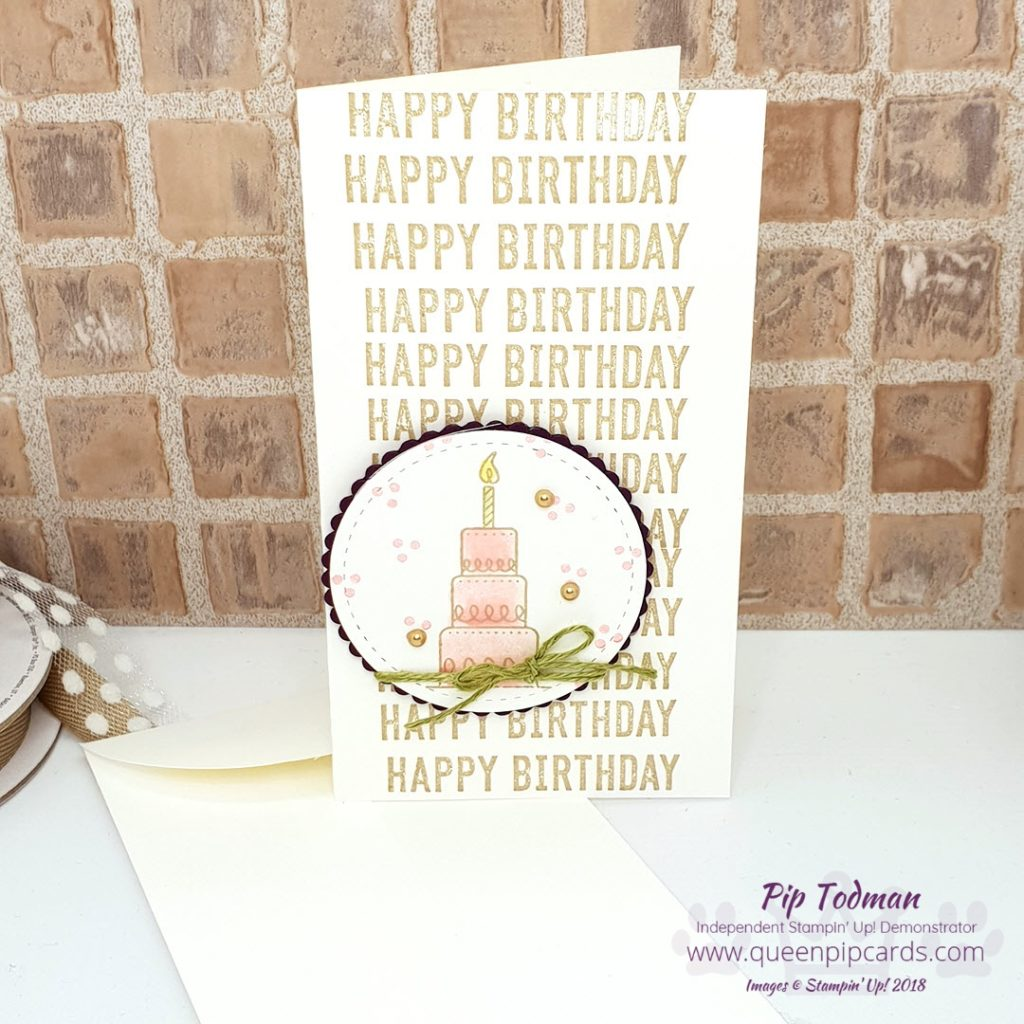 Amazing Life Happy Birthday Card is what I'm sharing today! Along with the news that the new 2019 Spring / Summer Catalogue and Sale-a-bration period is LIVE!!! Woo hoo lots of lovely new things. This set is one of my new favourites because it covers a lot of great occasions, birthdays being just one. All Stampin' Up! products are / will be available from my online store here: http://bit.ly/QPCShop Pip Todman Crafty Coach & Stampin' Up! Top UK Demonstrator Queen Pip Cards www.queenpipcards.com Facebook: fb.me/QueenPipCards #queenpipcards #simplystylish #inspiringyourcreativity #stampinup #simplestamping #papercraft