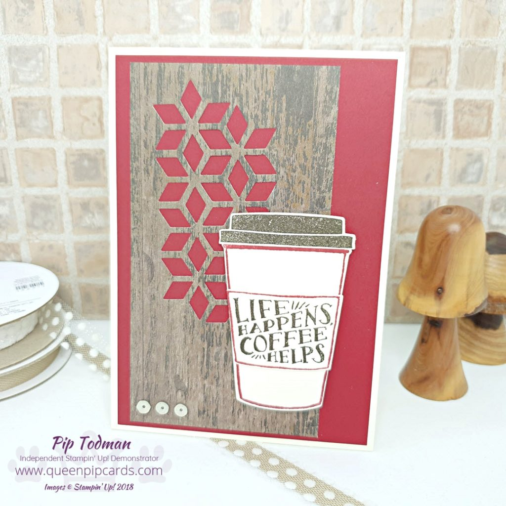 Life Happens Coffee Helps is a saying we can all relate to! This card idea tells someone you know things are tough, but you hope they find a little help from a warming cup of coffee (or in my case tea!!). As always we are truly sending a hug in an envelope. All Stampin' Up! products are / will be available from my online store here: http://bit.ly/QPCShop Pip Todman Crafty Coach & Stampin' Up! Top UK Demonstrator Queen Pip Cards www.queenpipcards.com Facebook: fb.me/QueenPipCards #queenpipcards #simplystylish #inspiringyourcreativity #stampinup #simplestamping #papercraft