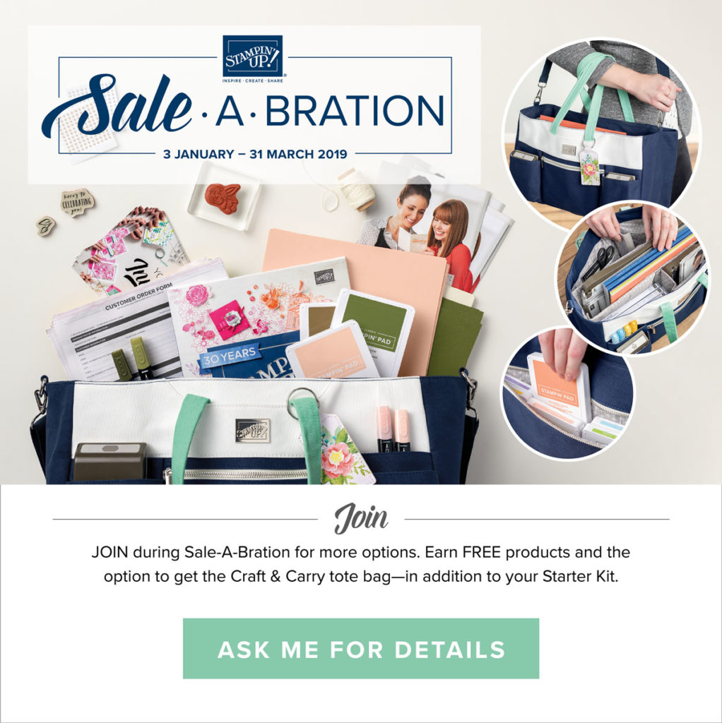 Join, Shop or Host - Sale-a-bration is all about rewarding YOU in Stampin' Up's biggest Sale of the year! All Stampin' Up! products are / will be available from my online store here: http://bit.ly/QPCShop Pip Todman Crafty Coach & Stampin' Up! Top UK Demonstrator Queen Pip Cards www.queenpipcards.com Facebook: fb.me/QueenPipCards #queenpipcards #simplystylish #inspiringyourcreativity #stampinup #simplestamping #papercraft
