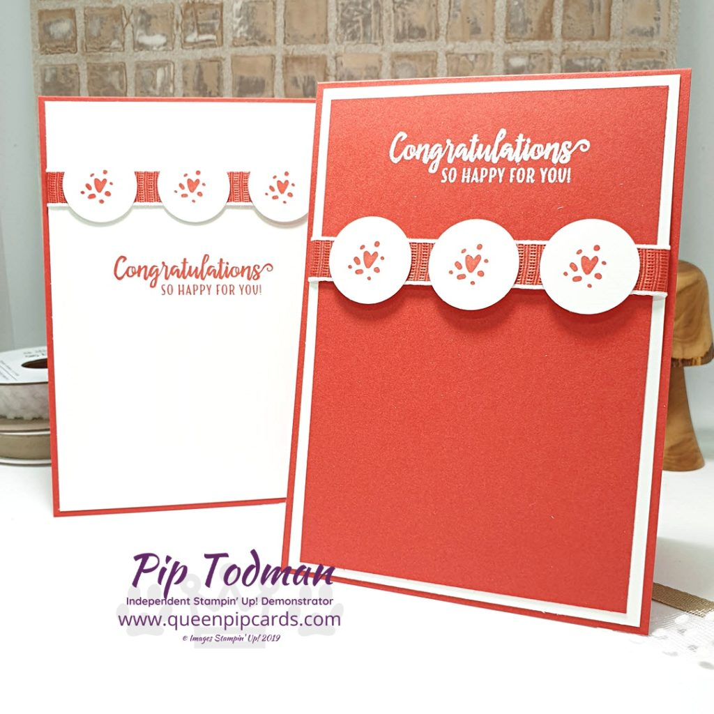 Celebration Card 2 Ways uses the Made To Bloom kit from Stampin' Up! Heat Embossing really changes the look of this card even when the layout is the same! Shop my online store here: http://bit.ly/QPCShop Pip Todman Top UK Stampin' Up! Independent Demonstrator www.queenpipcards.com #queenpipcards #simplystylish #stampinup #simplestamping #papercraft
