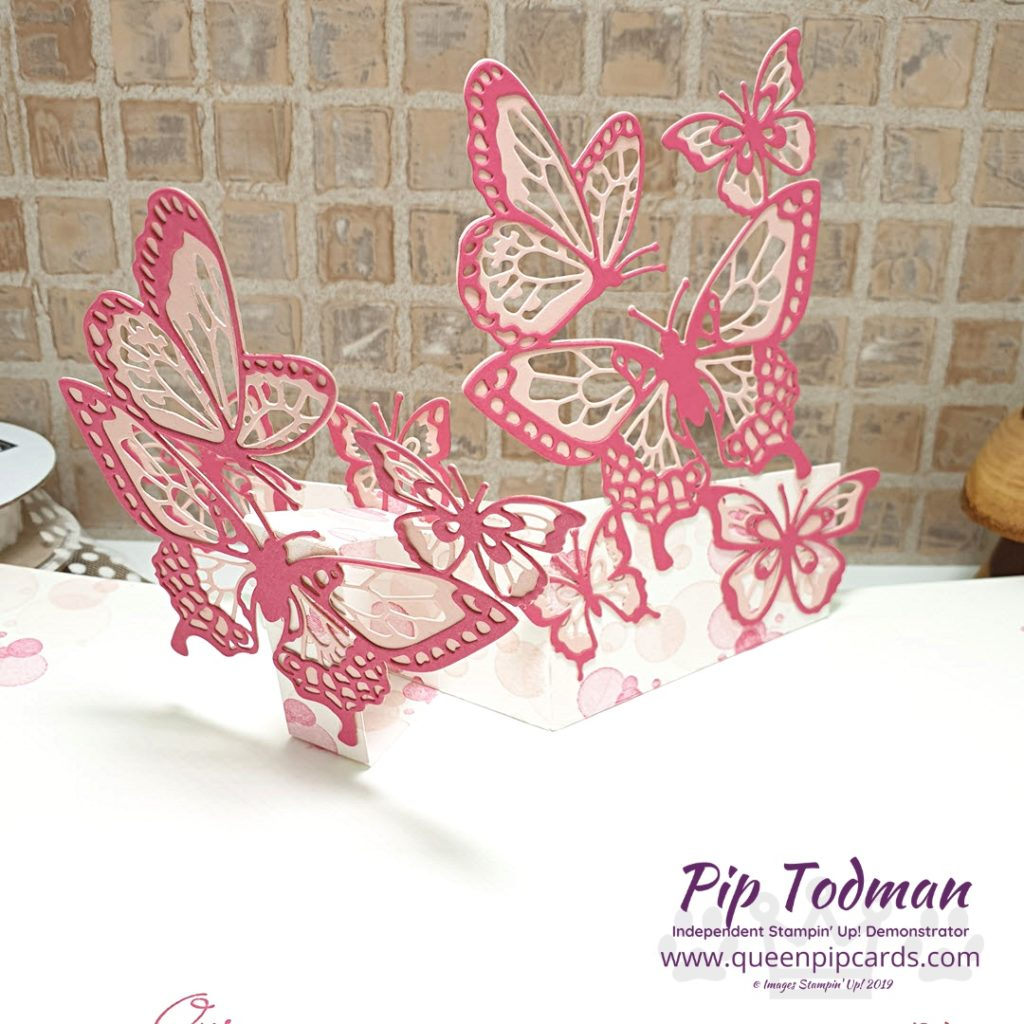 Flying Away With Beauty Abounds in my Pop Up Butterfly card design. I saw these dies and straight away I wanted to make a pop up card. All Stampin' Up! products are / will be available from my online store here: http://bit.ly/QPCShop Pip Todman Crafty Coach & Stampin' Up! Top UK Demonstrator Queen Pip Cards www.queenpipcards.com Facebook: fb.me/QueenPipCards #queenpipcards #simplystylish #inspiringyourcreativity #stampinup #simplestamping #papercraft