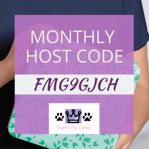 Monthly Host Code for Pip Todman Stampin Up Is FMG9GJCH