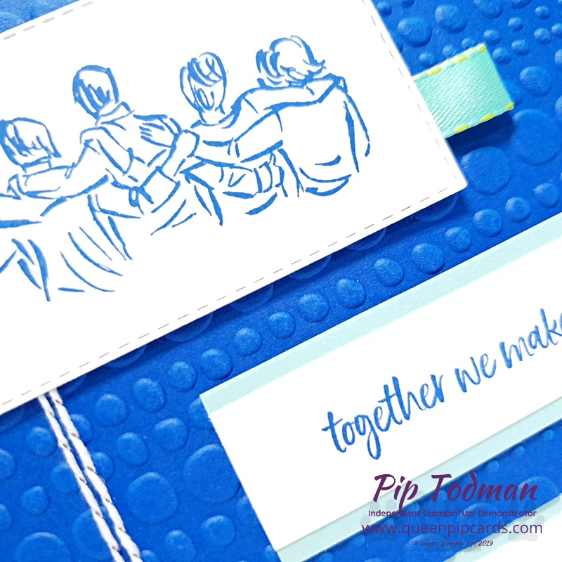 Making a Difference with the Greek Isles Blog Hop. Artfully Aware is great for team building images and sentiments. Shop my online store here: http://bit.ly/QPCShop Pip Todman www.queenpipcards.com #queenpipcards #simplystylish #stampinup #simplestamping #papercraft