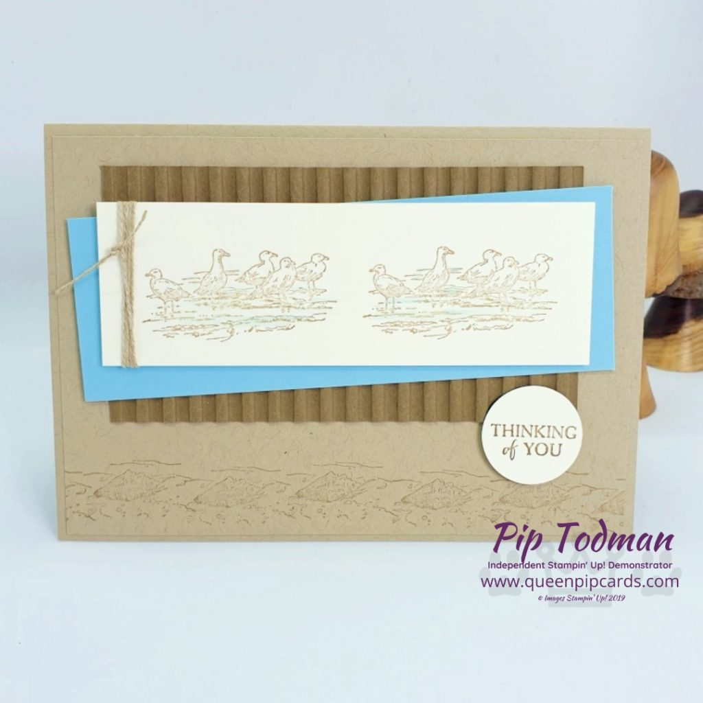 By The Bay Card With Scraps is a fun video for you! Love this Sale-a-bration set, I'll be sad to see it go. Shop my online store here: http://bit.ly/QPCShop Pip Todman www.queenpipcards.com #queenpipcards #simplystylish #stampinup #simplestamping #papercraft