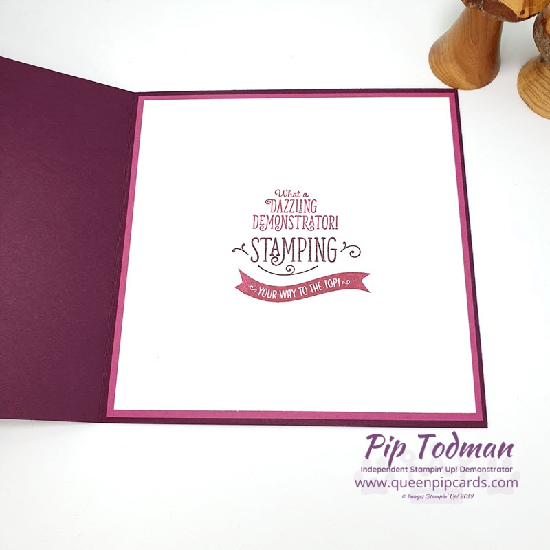 Celebrate My Team! That's what I love doing and what I'm doing today. This is the card I made for Sara who advanced to Silver Elite recently! Shop my online store here: http://bit.ly/QPCShop Pip Todman www.queenpipcards.com #queenpipcards #simplystylish #stampinup #simplestamping #papercraft