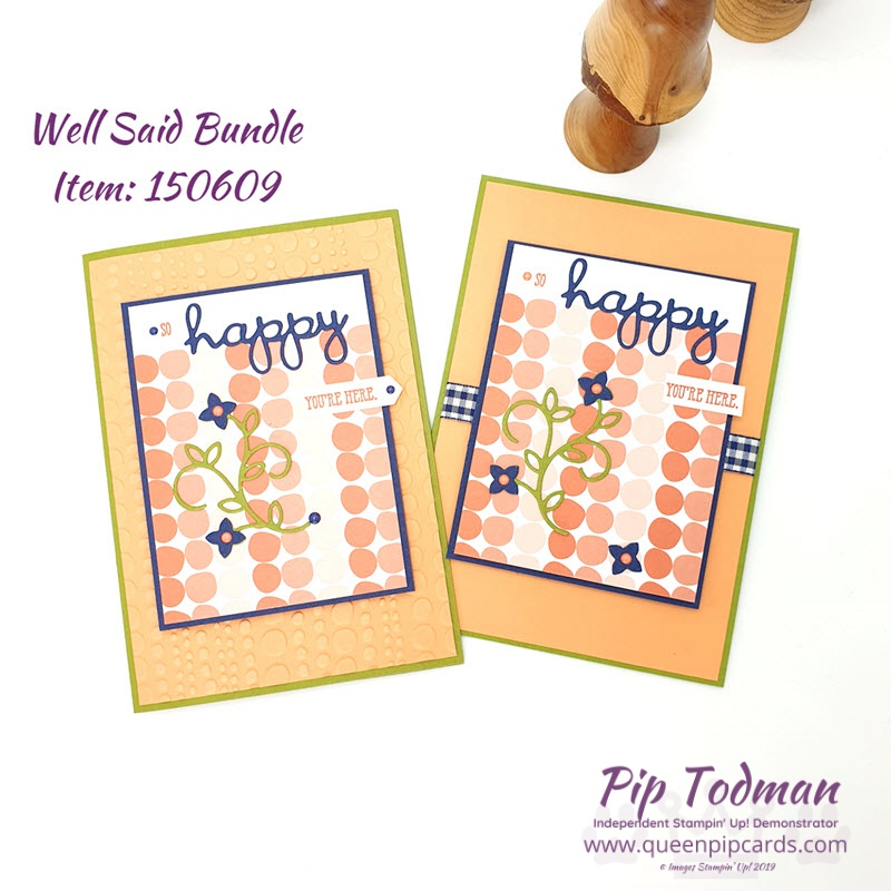 Happy Card ideas for International Happiness Day! You can't help but smile with these gorgeous cards and swirly words! Watch the video for all my tips! Shop my online store here: http://bit.ly/QPCShop Pip Todman www.queenpipcards.com #queenpipcards #simplystylish #stampinup #simplestamping #papercraft