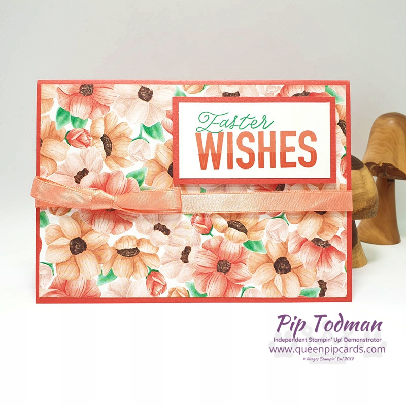 Today's card is a Painted Seasons Easter Card - showing off the wonderful papers you can get free in Sale-a-bration. Shop my online store here: http://bit.ly/QPCShop Pip Todman www.queenpipcards.com #queenpipcards #simplystylish #stampinup #simplestamping #papercraft