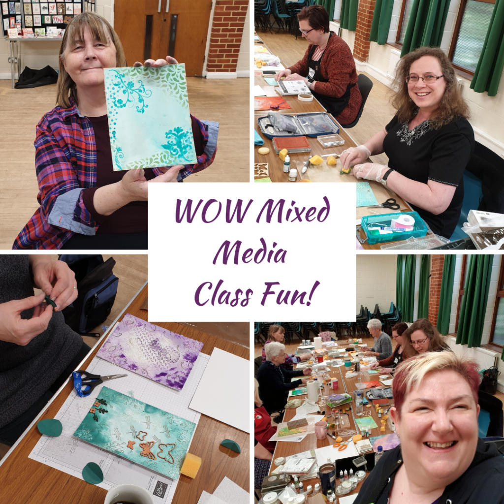 Mixed Media WOW Class - everyone had great fun designing their own home decor piece with Stampin' Up! products. Shop my online store here: http://bit.ly/QPCShop Pip Todman www.queenpipcards.com #queenpipcards #simplystylish #stampinup #simplestamping #papercraft