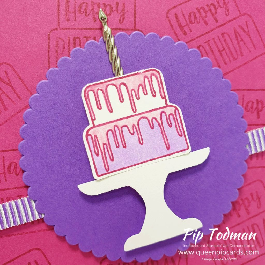 Piece of Cake For Card And A Cuppa class! I love these more casual classes and a stamp set and punch are perfect for crafting on the go! Pip Todman www.queenpipcards.com Stampin' Up! Independent Demonstrator UK