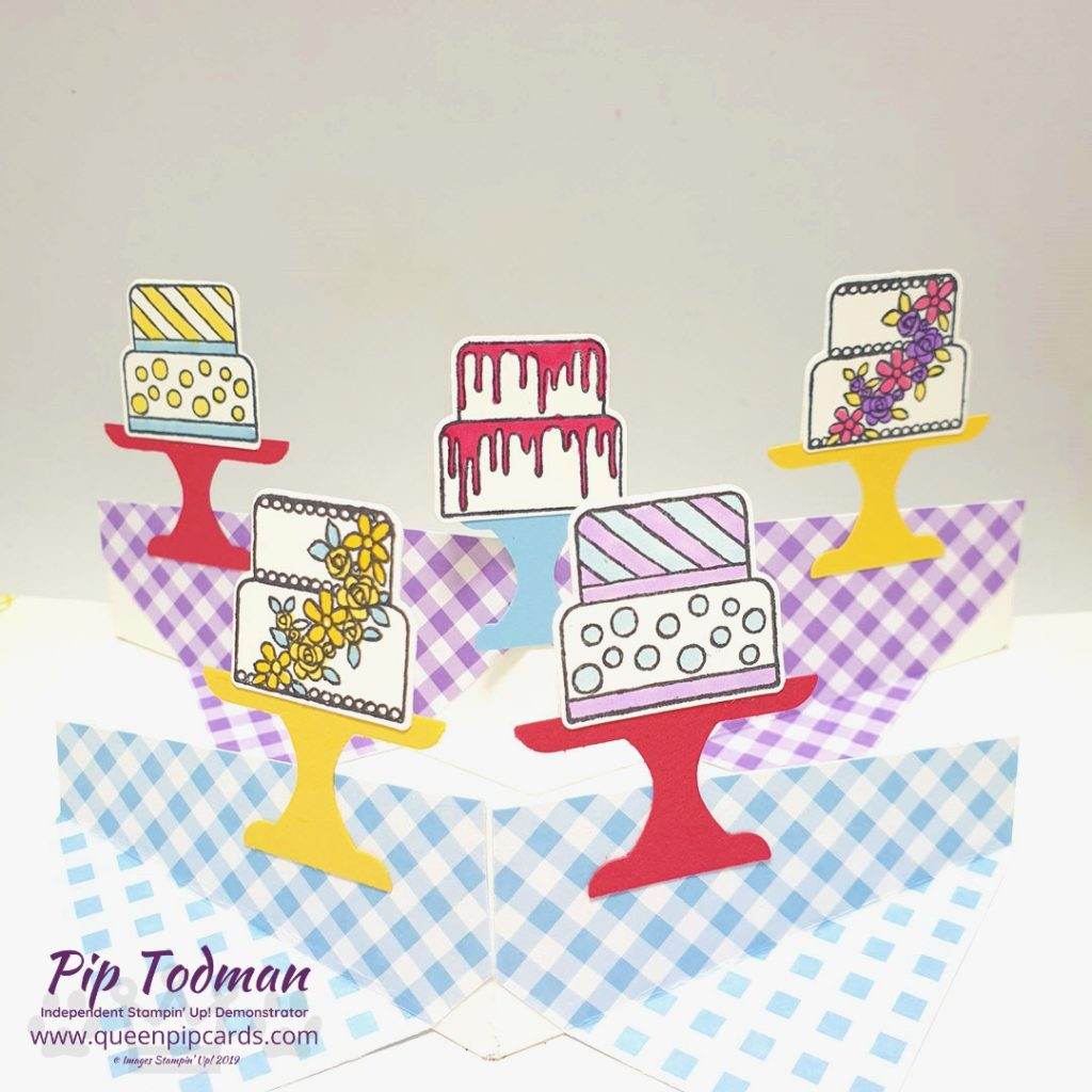 Pop Up With A Piece of Cake - yes finally it's my WOW card POP UP video sharing the mechanism for these fun pop ups! Pip Todman www.queenpipcards.com Stampin' Up! Independent Demonstrator UK