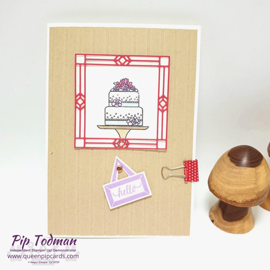 WOW Swap With A Piece of Cake - today I'm sharing a sneak peek of my WOW swap that I did with a group of my team that are working their businesses! Pip Todman www.queenpipcards.com Stampin' Up! Independent Demonstrator UK