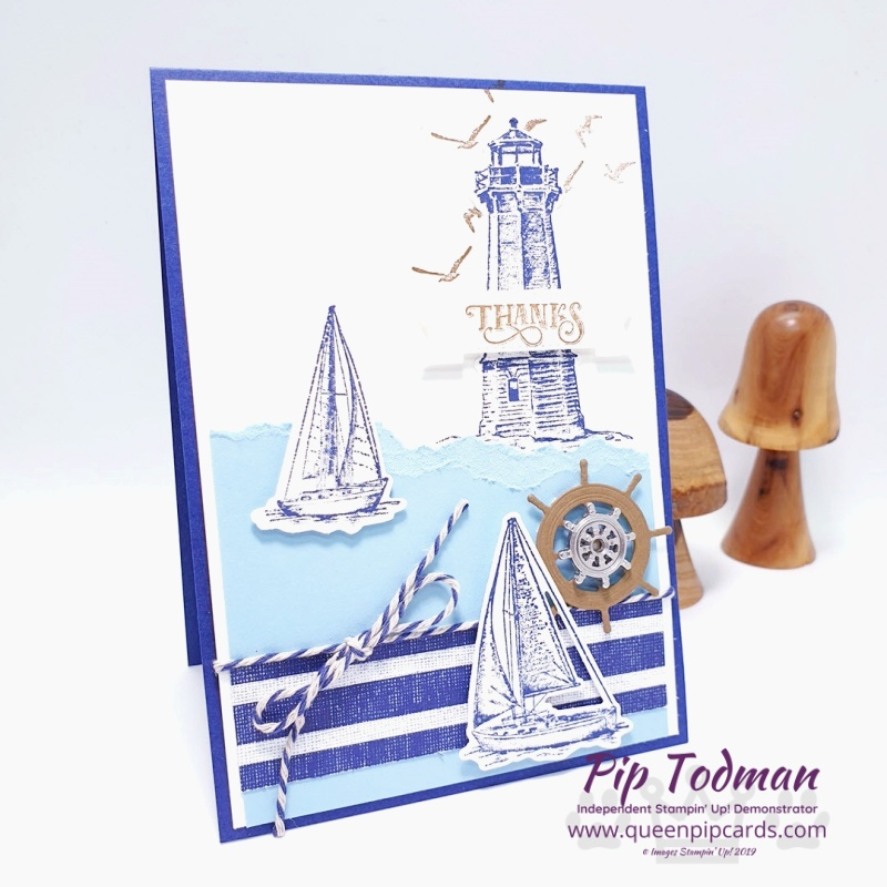 Masuline Card with Sail Away today! Sharing some Masculine Makes with the Stampin' Creative Crew Pip Todman www.queenpipcards.com Stampin' Up! Independent Demonstrator UK
