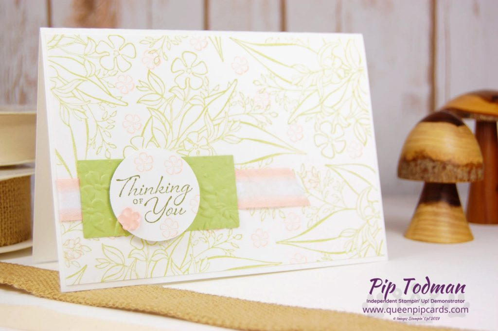Today's Moody Monday Pick Me Up video features Wonderful Romance Simple Stamping with various designs! Lovely leaves in greens with the hint of pink! Pip Todman www.queenpipcards.com Stampin' Up! Independent Demonstrator UK
