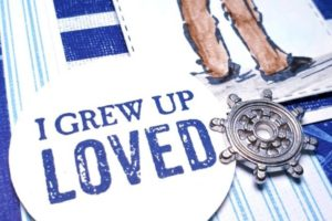 Memories of Growing up with my dad were the inspiration behind this blue and white bold card. Pip Todman www.queenpipcards.com Stampin' Up! Independent Demonstrator UK