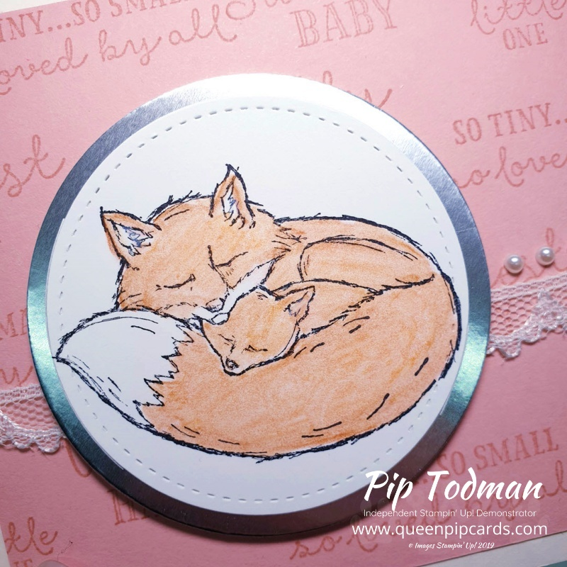 Wildly Happy Fox baby cards today! Plus a quick and easy background technique! Pip Todman www.queenpipcards.com Stampin' Up! Independent Demonstrator UK