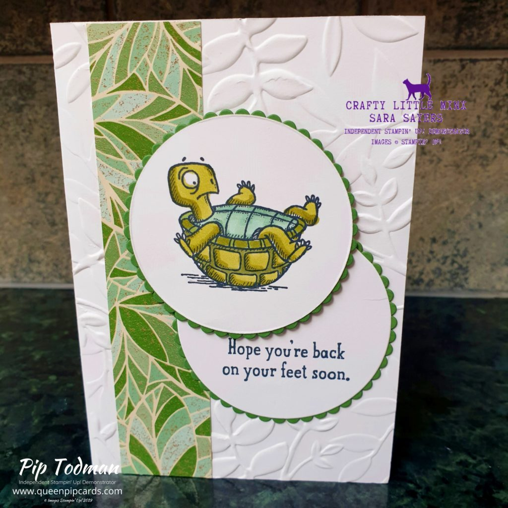 Back On Your Feet by Sara from my team today on my By Royal Appointment blog. She's so great at colouring and making adorable cards you want to make. Pip Todman www.queenpipcards.com Stampin' Up! Independent Demonstrator UK