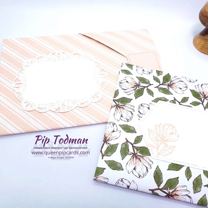 Glorious Magnolia Lane Envelope Cards in my Moody Monday video. An envelope and card in one! Pip Todman www.queenpipcards.com Stampin' Up! Independent Demonstrator UK