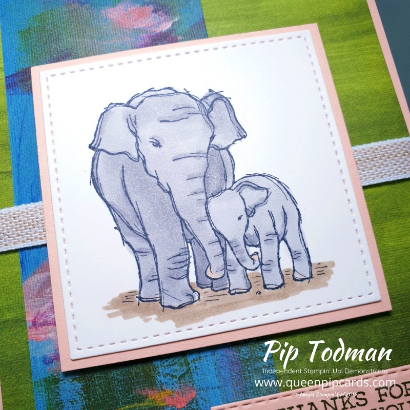 Wildly Happy Memories of Thailand is my card for today's Stampin' Creative Blog Hop. Pip Todman www.queenpipcards.com Stampin' Up! Independent Demonstrator UK