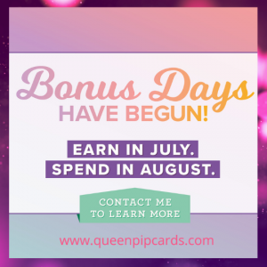 Bonus Days are back - earn a coupon to spend in August when you buy in July!
