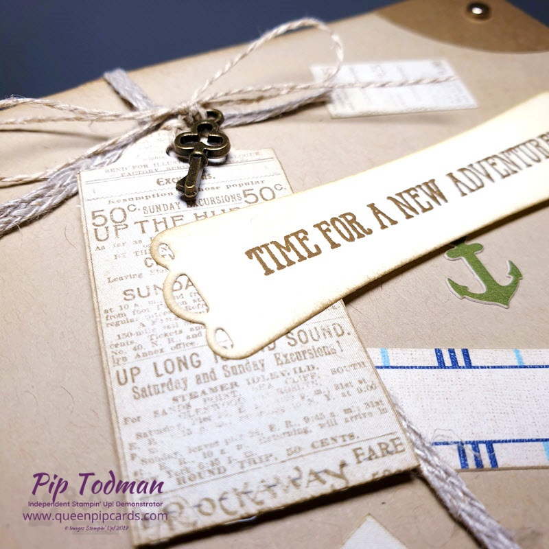 Fun Bon Voyage Card with Come Sail Away papers for this month's Pretty Cards and Paper Blog Hop. Pip Todman www.queenpipcards.com Stampin' Up! Independent Demonstrator UK