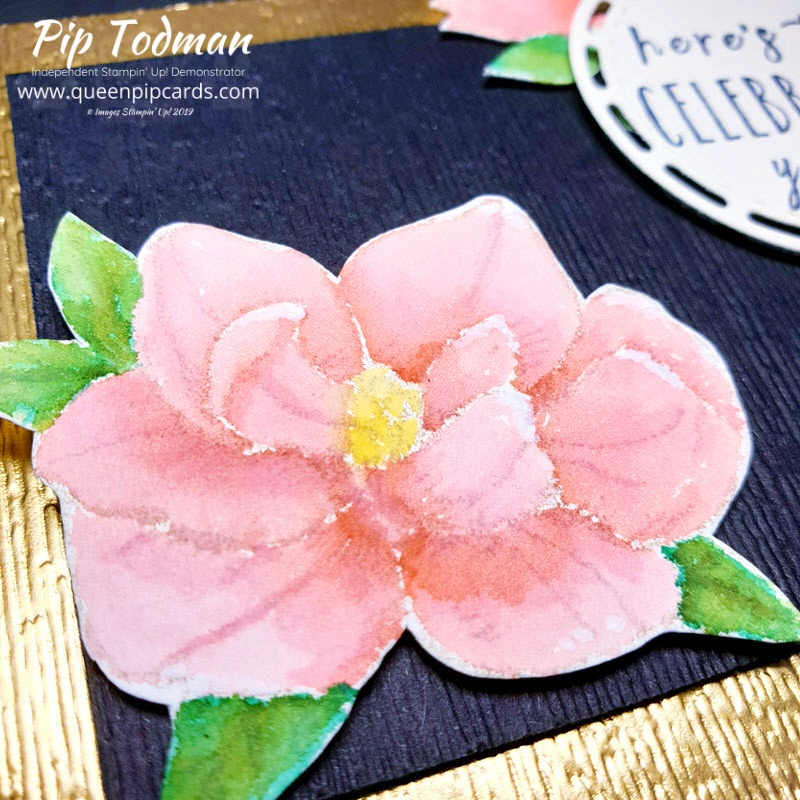 Easy no line water colour rose card! I love this simple water colouring technique to get great results every time! Pip Todman www.queenpipcards.com Stampin' Up! Independent Demonstrator UK