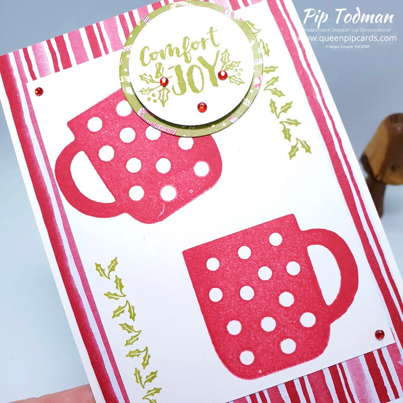 The new Cup of Christmas Reversible stamps and Cup of Cheer christmas cards in today's card fest! Pip Todman www.queenpipcards.com Stampin' Up! Independent Demonstrator UK