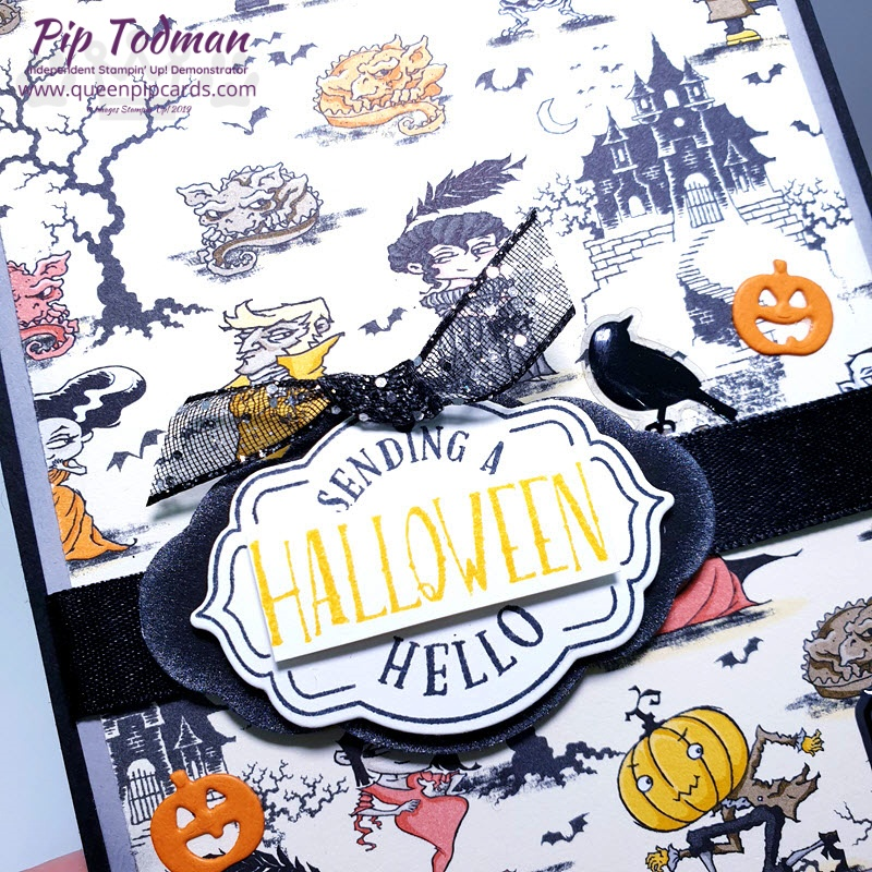 Monster Bash or Path of Petals for this month's Pretty Cards & Paper Hop! I am LOVING this halloween stuff - did I say that already? Pip Todman www.queenpipcards.com Stampin' Up! Independent Demonstrator UK
