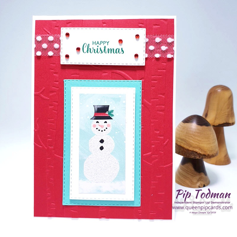 2 Layouts with Let It Snow papers and embellishment kits. Cool Yule in Red! Pip Todman www.queenpipcards.com Stampin' Up! Independent Demonstrator UK
