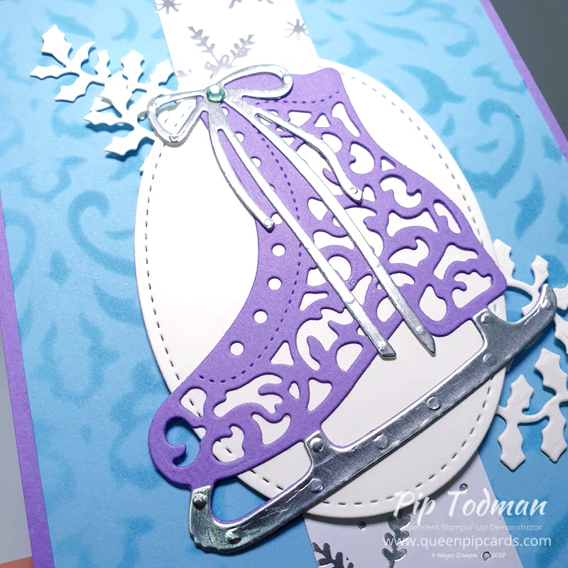 Basic Masks and Detailed Skate Dies, how to use a stencil or mask for great filigree backgrounds. Pip Todman www.queenpipcards.com Stampin' Up! Independent Demonstrator UK