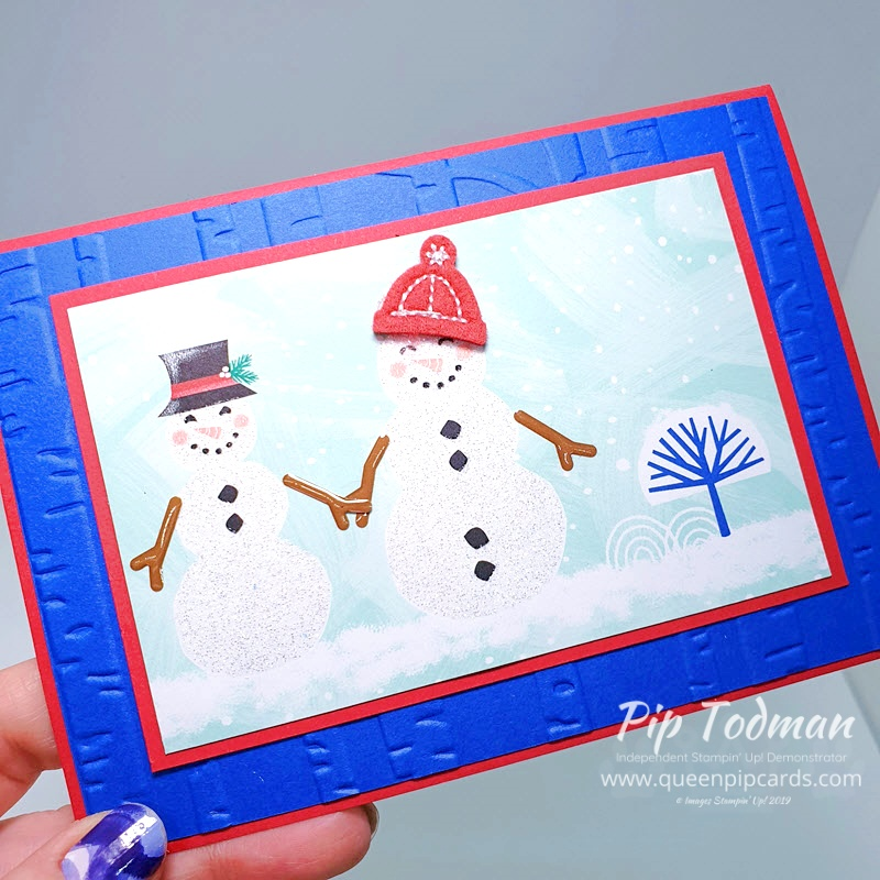 Let It Snow 5 Ways in 30 minutes with my video today!! Pip Todman www.queenpipcards.com Stampin' Up! Independent Demonstrator UK