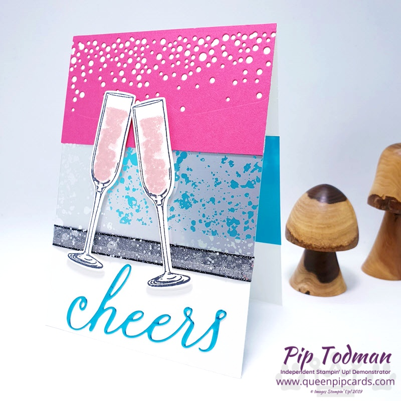 Sip Sip Hooray 3 ways! Incorporating Mercury Acetate Sheets for that WOW impact! Pip Todman www.queenpipcards.com Stampin' Up! Independent Demonstrator UK