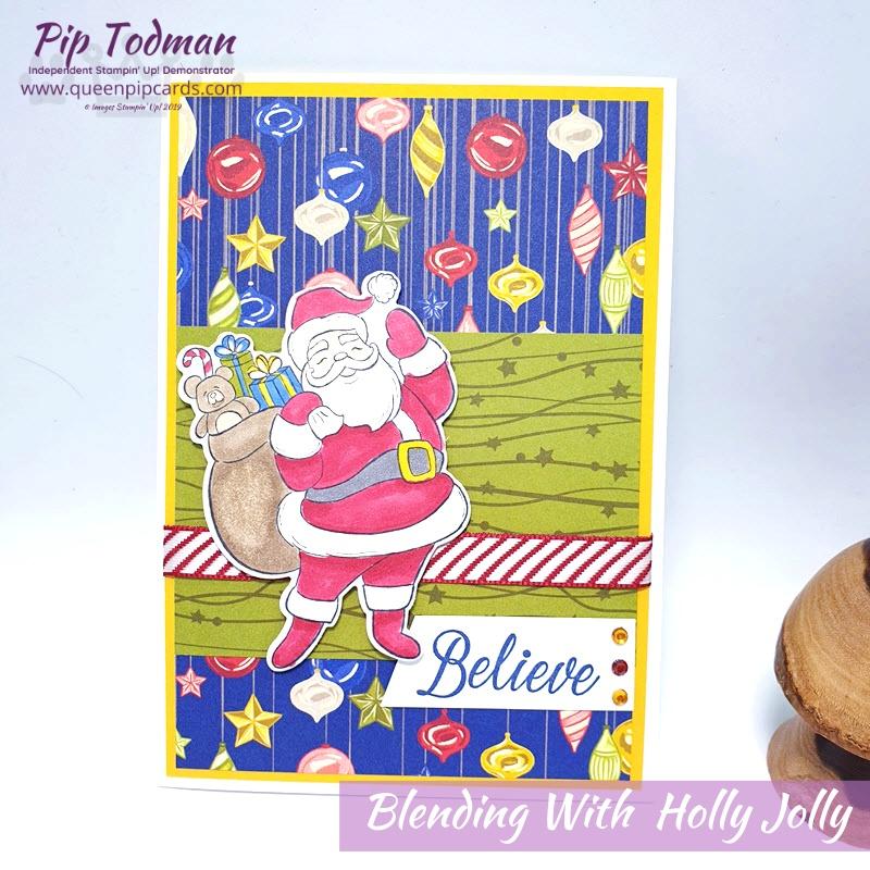 We are Blending with the Holly Jolly Bundle! My FB Live with some colouring in fun! Pip Todman www.queenpipcards.com Stampin' Up! Independent Demonstrator UK
