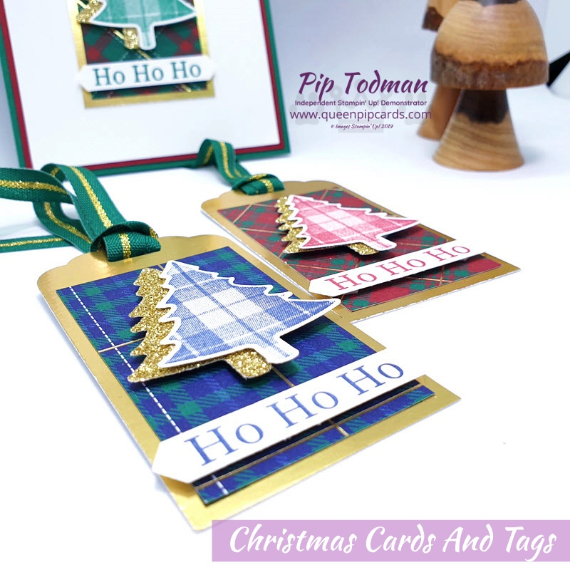 Christmas Cards and Tags featuring the gorgeous Perfectly Plaid suite! Pip Todman www.queenpipcards.com Stampin' Up! Independent Demonstrator UK